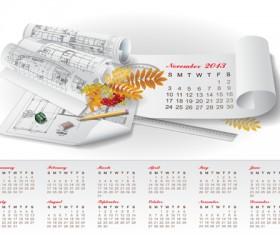 Set of Creative Calendar 2013 design vector 10