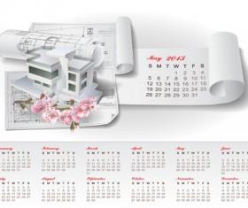 Set of Creative Calendar 2013 design vector 11