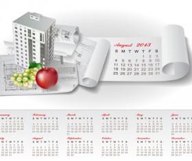Set of Creative Calendar 2013 design vector 12