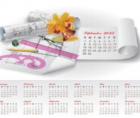 Set of Creative Calendar 2013 design vector 13