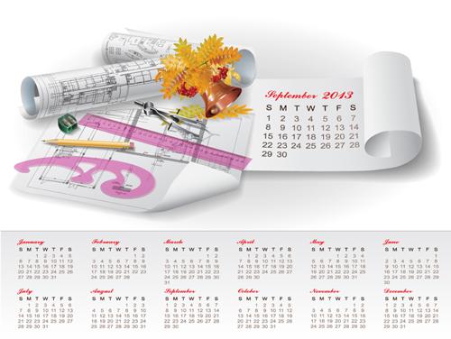 Free Eps File Set Of Creative Calendar 2013 Design Vector 10 Download ...