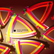 Link toElements of colorful abstract objects vector background set 03