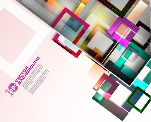Elements Of Colorful Abstract Objects Vector Background Set 04