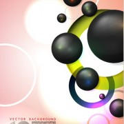Link toElements of colorful abstract objects vector background set 05