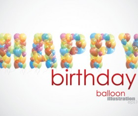 Colorful balloon Consisting of alphabet with numbers vector 01