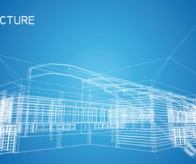 Set of Abstract Construction background vector 04