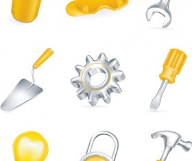 Various Builders Icons mix vector set 02
