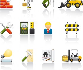 Various Builders Icons mix vector set 03