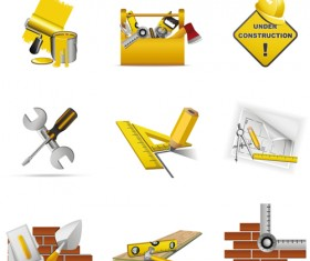 Various Builders Icons mix vector set 05