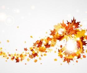 Creative Autumn leaves figures vector background 01