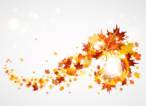 Creative Autumn leaves figures Autumn Leaves