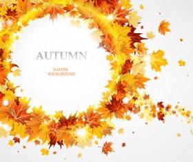 Creative Autumn leaves figures vector background 02