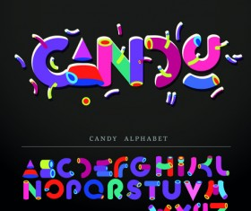 Funny Alphabet with creative font design vector 01