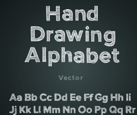 Funny Alphabet with creative font design vector 02