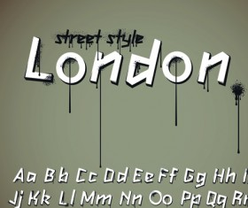 Funny Alphabet with creative font design vector 03