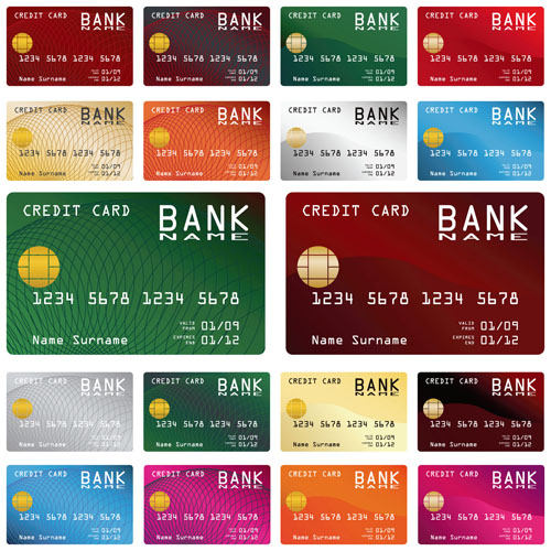 credit card vector template set 03 vector card free download