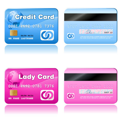 Credit Card Vector Template Set 04
