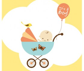 Cute baby theme background design vector set 01