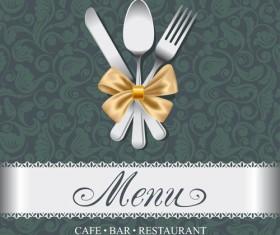 Elegant menu cover vector graphics 01