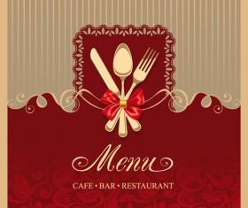 Elegant menu cover vector graphics 02