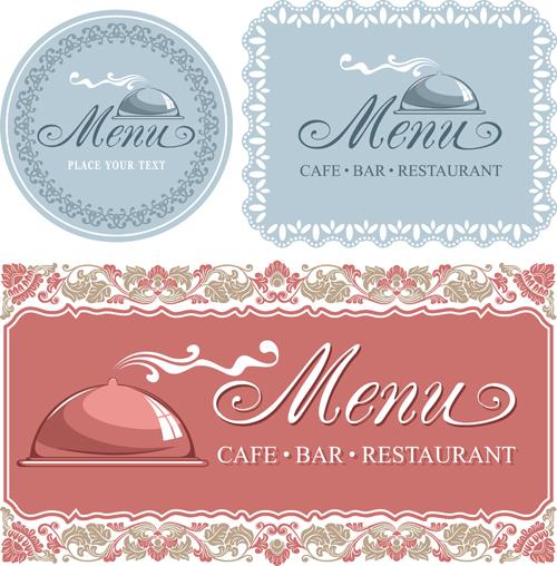 Elegant menu cover vector graphics 03