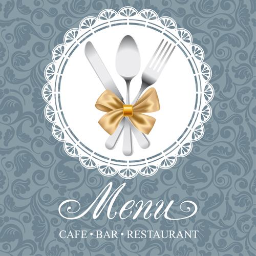 Elegant menu cover vector graphics 04