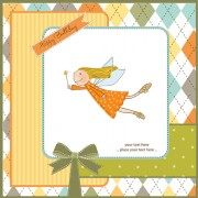 Link toElements of cute baby cards background vector 02