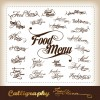 Elements of Food menu cover design vector 02