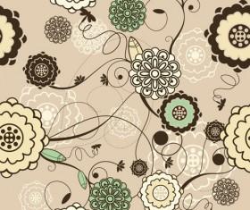 Elements of Light Floral vector Background 03