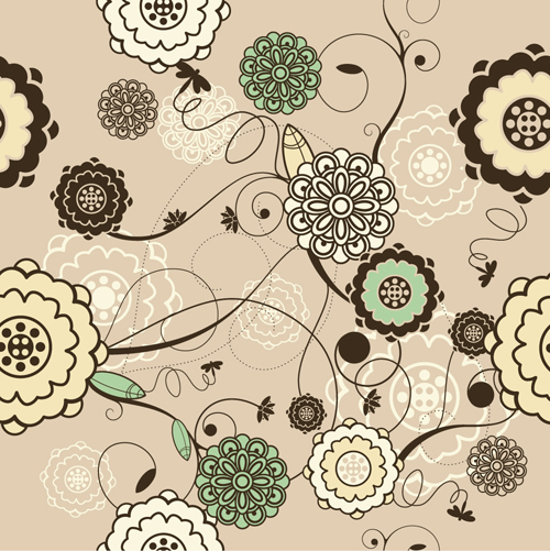 Elements of Light Floral vector Background 03