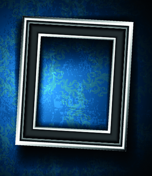 Set Of Empty Frame On The Wall Vector 05 Vector Frames