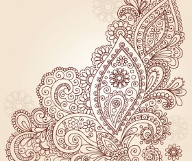 Vector graphic Flower ornaments Pattern 02