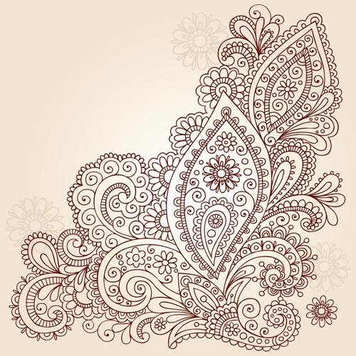 Mehndi Patterns Vector : Free mehndi pattern coloring pages