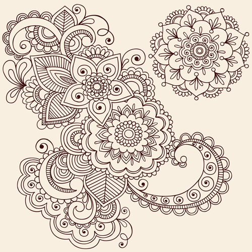 ... ornaments Pattern 03 - Vector Flower, Vector Pattern free download
