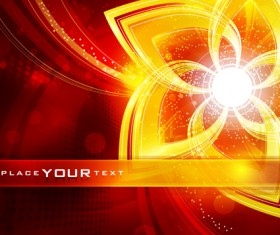 Abstract Backgrounds with Fiery vector set 03