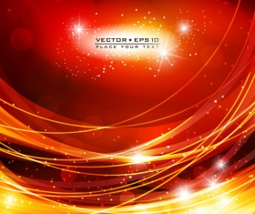 Abstract Backgrounds with Fiery vector set 04