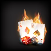 Link toFlame elements casino cards vector graphics 01