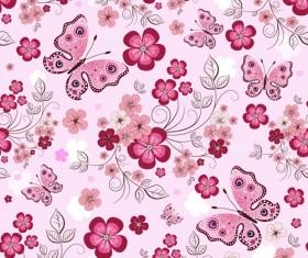 Vivid Flower pattern design vector graphic 01
