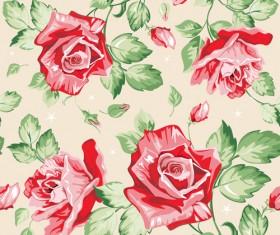Vivid Flower pattern design vector graphic 02