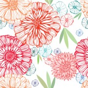 Link toVivid flower pattern design vector graphic 03