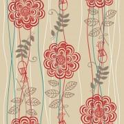 Link toVivid flower pattern design vector graphic 04