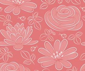 Vivid Flower pattern design vector graphic 05