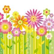 Link toDifferent cartoon flower mix design vector 03