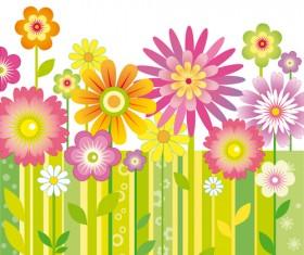 Different cartoon flower mix design vector 03