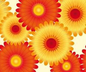Different cartoon flower mix design vector 04