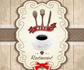 Set of Food elegant cards design elements vector 02