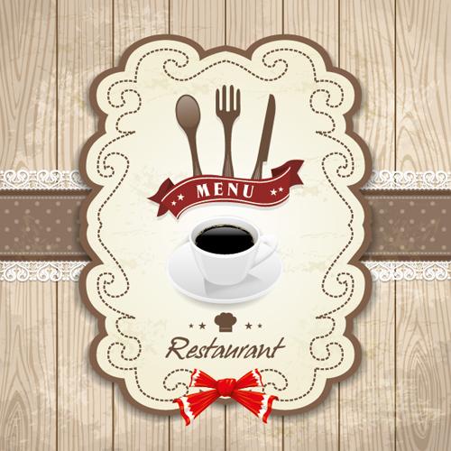 Set of Food elegant cards design elements vector 02