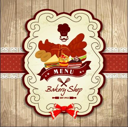 Set of Food elegant cards design elements vector 03