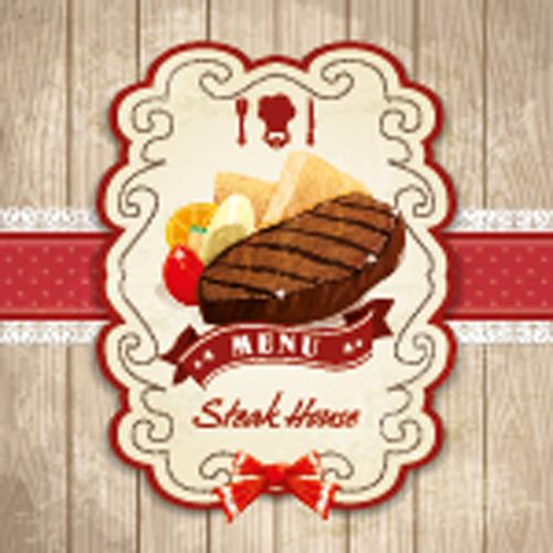 Set of Food elegant cards design elements vector 04
