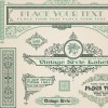 vintage style vector of Frame, border and ornament set 04